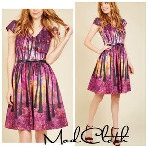 NWT ModCloth Frondescent Fete A-line dress XXS